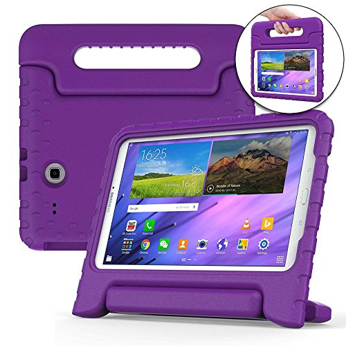 Price comparison product image Cooper Dynamo Kids case Compatible with Galaxy Tab E 9.6 | Shock Proof Heavy Duty Kidproof Cover for Kids | Girls, Boys | Kid Friendly Handle & Stand, Screen Protector | Samsung SM-T560 T561 (Purple)