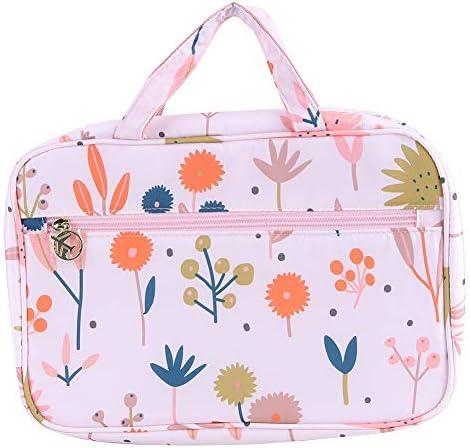 化粧品バッグ、ポータブル大容量透明旅行化粧品化粧バッグハンギングトイレタリーケースバッグオーガナイザー、バスルーム、旅行用(プロテア)