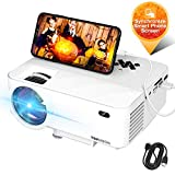 "Mini Projector, TOPVISION Video Projector with Synchronize Smart Phone Screen, 1080P Supported, 176"" Display, 50,000 Hours Led, Compatible with Fire Stick,HDMI,VGA,USB,TV,Box,Laptop,DVD: more info"