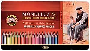 KOH-I-NOOR Mondeluz Aquarell Coloured Pencils (Set of 72)