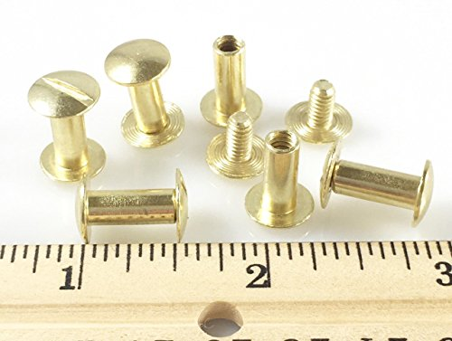 Dangerous Threads Scrapbook Binding Screws - Screw Post Extenders - Various Colors & Sizes (50 pieces, Gold - 1/2