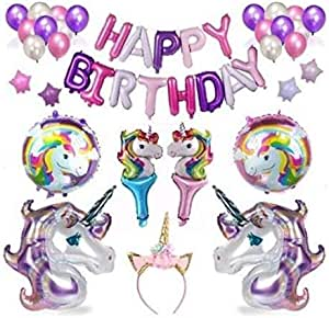 39pcs/Set Unicorn Balloon Party Supplies banner Paper Tassel Garland For Birthday Party Decorations air Ball Party Favors Baby Shower