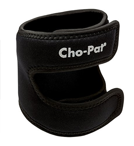"Cho-Pat Dual Action Knee Strap – Provides Full Mobility & Pain Relief For Weakened Knees – Black (Medium, 14""-16"") by Cho-Pat (Image #2)"