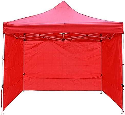 Carpa plegable para el mercado con toldo Gazebo, cenador plegable para el jardín, para la lluvia, resistente al agua y con protección UV (sin techo y soporte, solo lateral) rojo: Amazon.es: Hogar