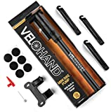 Portable Mini Bike Pump. FREE Tire Levers, Glueless Patches, Pressure Gauge, 120PSI, Flexible Hose, Frame Mount, Schrader & Presta Valve. Quickly & Easily Fix Bicycle Tires At Home Or On The Road!