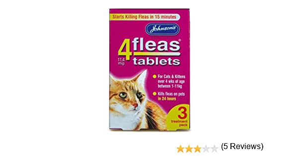 4Fleas Johnsons - Pastillas Contra Pulgas Para Gatos y Gatitos x 3: Amazon.es: Hogar