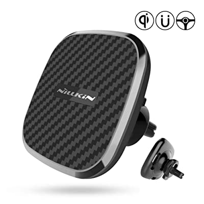 Nillkin Wireless Car Charger Mount, 10W Qi Fast Car Charging Magnetic Air Vent Phone Holder Compatible for iPhone 11/11 Pro Max/Xs Max/XR/X/8 Plus,Samsung Galaxy S10/SE10/Note10/S9/S9+/S8/S8+ and More