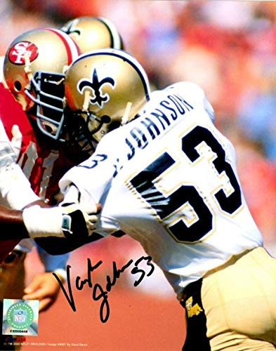 Autographed Signed Vaughn Johnson 8x10 New Orleans Saints Photo - Certified Authentic