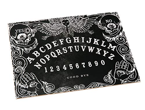 Black Wooden Ouija Spirit Board game with Planchette and detailed...