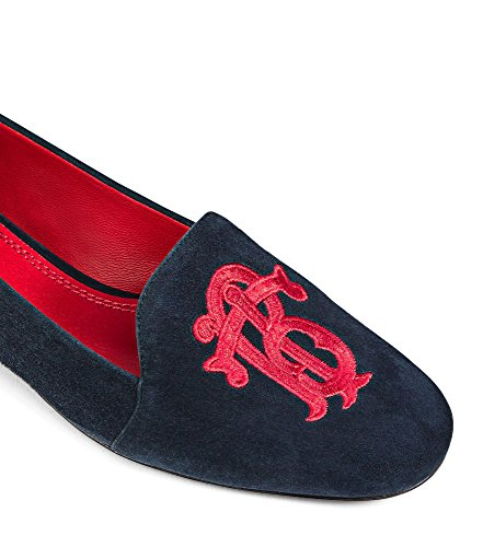 Tory Burch Antonia Loafer Blue - Flat Nude Burch Tory