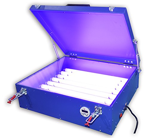 110V 20''X24'' UV Exposure Unit Screen Printing Plate Making Silk Screening DIY Machine Burning with Cover 8 Tubes by Screen Printing  Auxiliary Equipment