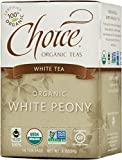 Choice Organic Teas White Tea, White Peony, 16 Count, Pack of 6