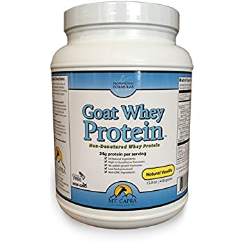 Goat Whey Protein by Mt. Capra | Grass-Fed Undenatured Whey Protein Concentrate Powder from Pastured Goats, All-Natural, NonGMO and High in Glutathione Precursors | Natural Vanilla