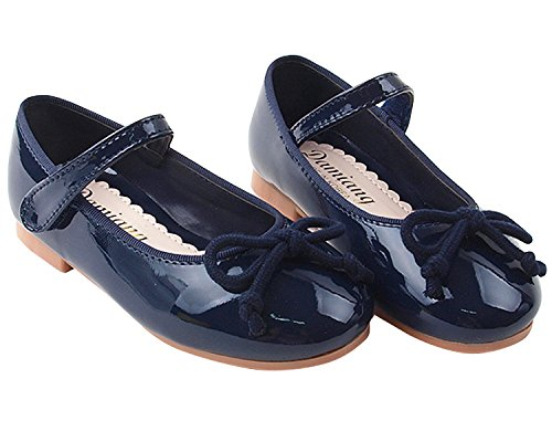 Milky Walk Round Ribbon Girl's Mary Jane Dress Party Shoes (Toddler/Little Kid) (8 M US Toddler, Navy)