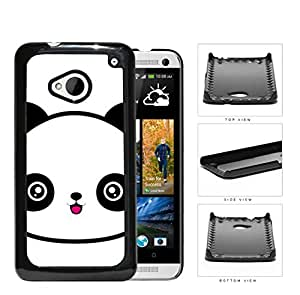 Cute Panda Face Anime Hard Plastic Snap On Cell Phone Case HTC One M7