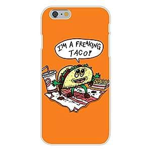 "Wishing Apple iPhone 6 Custom Case White Plastic Snap On - ""Freakin Taco"" Funny Mexican Food Cartoon"