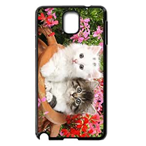 Diy Lovely Cute Cat Animal Phone Case for samsung galaxy note 3 Black Shell Phone JFLIFE(TM) [Pattern-6]