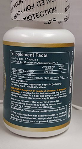Carnivora 100 Vegi Caps 1 Bottle Promotes Healthy Immune