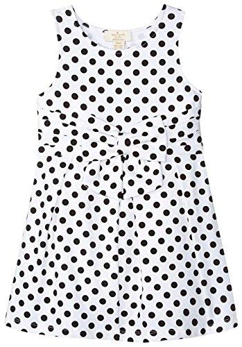 Price comparison product image kate spade new york Girls' Jillian Dress, Black/Cream Dot, 4T