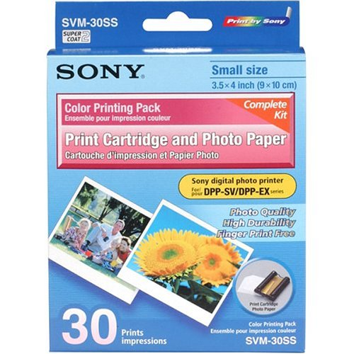 (Sony SVM-30SS Cartridge and Paper for Video Printers)