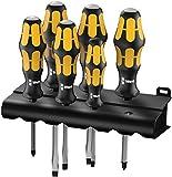 Wera 932/6 Kraftform Plus Screwdriver Set and Rack, 6-Pieces