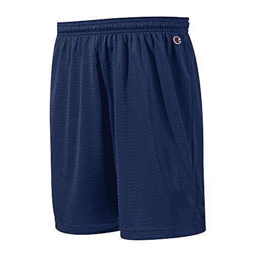 Champion Polyester Mesh Short 9', Navy, XL