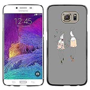 TopCaseStore / la caja del caucho duro de la cubierta de protección de la piel - Dance Party Fashion Woman - Samsung Galaxy S6 SM-G920