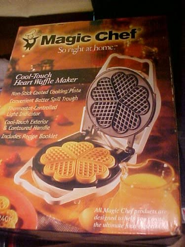 Magic Chef Cool Touch Heart Waffle Maker