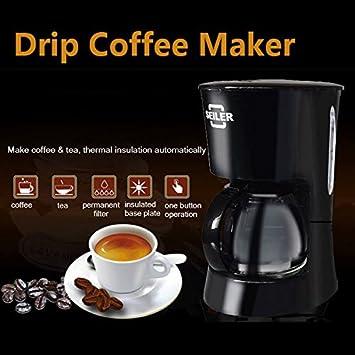 Paleo Té de la máquina de café de la máquina cafetera de goteo negro homade: 220-240 Seiler 600ml: Amazon.es: Hogar