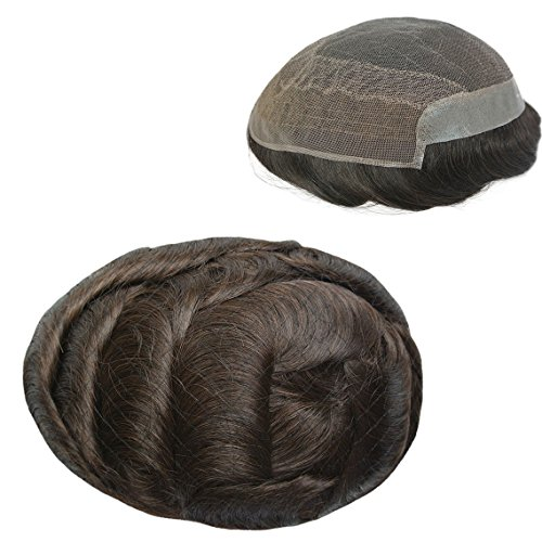 Topnotion Lace Skin Human Hair Toupee for Men 8''x10'' Hair Pieces by Topnotion Hair