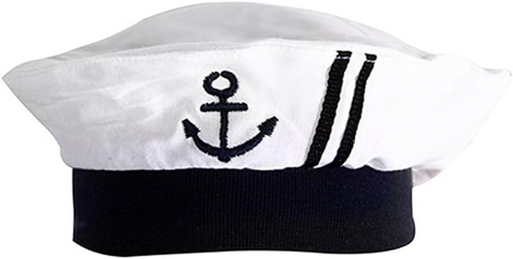 Baby Boy Marine Sailor Costume Short Sleeve Romper With Hat 2 Pcs Set