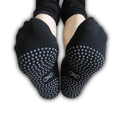 Non Slip Skid Socks with Grips, For Hospital Rehab, Yoga, Pilates, Barre, 1 & 2 Pairs Set