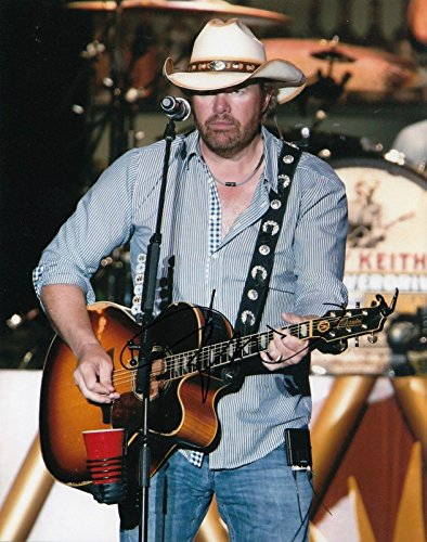 Toby Keith signed Red Solo Cup country music singer 8x10 photograph w/