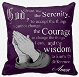 Serenity Prayer Pillow - Praying Hands