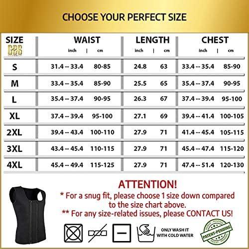 Goldenstarsport Sweat Vest for Men, Adjustable Sauna Vest for Men with Double Zipper, Workout Vest for Men, Mens Sauna Waist Trainer, Neoprene Vest Men 4