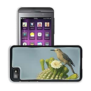 Birds Animals Bee Eaters Cactus Flower BlackBerry Z10 Snap Cover Premium Aluminium Design Back Plate Case Customized Made to Order Support Ready 5 3/16 inch (131mm) x 2 5/8 inch (67mm) x 4/8 inch (13mm) MSD BlackBerry Z 10 Professional Metal Cases BlackBe