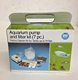 Aquarium Pump and Filter Kit (7 Pc) for Tanks up to 10 Gal