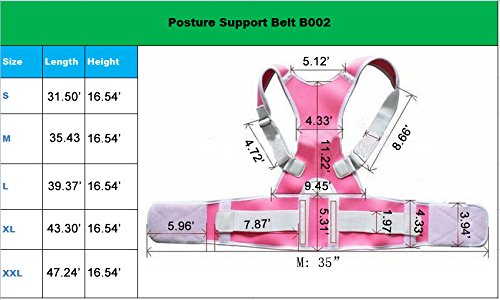 10PCS Magnets Back Support Belt for Posture Correction and Back Pain Support - UNISEX by Aofit (XXL, Pink) by Aofit (Image #6)