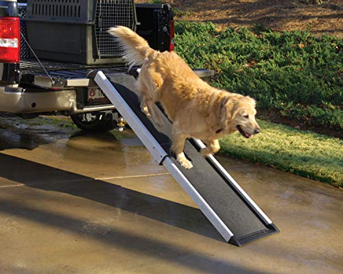 PetSafe Solvit Mr. Herzher s Smart Ramp, Telescopes from 41.5 in. – 70 in, Portable Lightweight Dog and Cat Ramp.