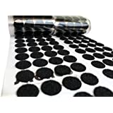 "3/4"" Hook and Loop Dots Black - 500 Sets/Pairs (1000 pieces) - 20 mm Self Adhesive Coins"