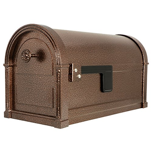 Gibraltar Mailboxes High Grove Large Capacity Galvanized Steel Aged Copper, Post-Mount Mailbox, HM16LC01
