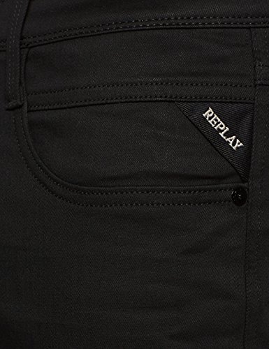 Hombre para Black Denim REPLAY Pantalones Anbass 98 Negro T7ft8q