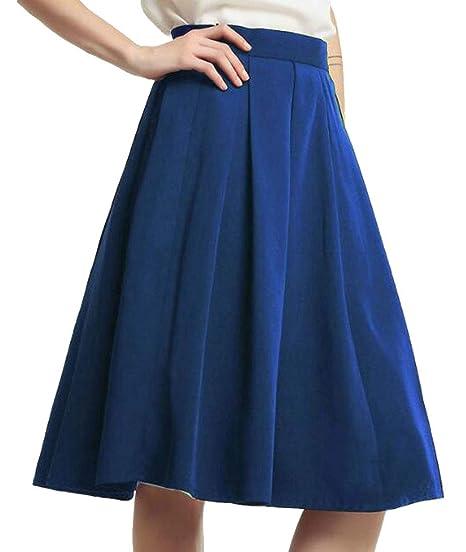 ultima collezione imbattuto x acquista lusso Uuyuk - Falda de Cintura Imperial para Mujer, Color Liso ...