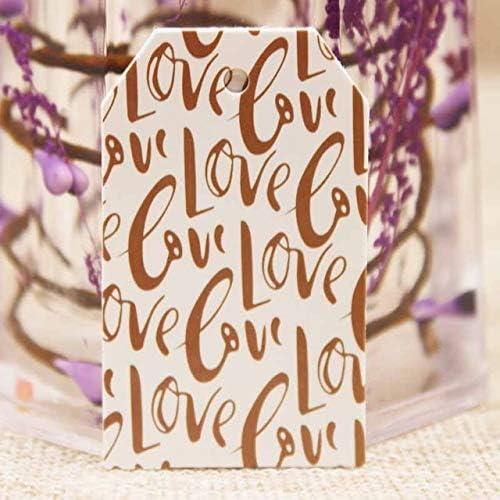 B07VD7RZ7J OBELLA BOUTIQUE Feiluan 1000pc gold foil love wedding tag card DIY paper handmade gift swing hang tag card pink heart married favors tag card 5141JkBx7LL
