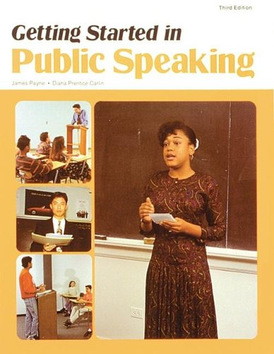 Getting Started in Public Speaking (NTC: LANGUAGE ARTS)