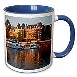 3dRose Danita Delimont - Harbors - British Columbia, Victoria, Empress Hotel, Harbor - CN02 TEG0079 - Terry Eggers - 11oz Two-Tone Blue Mug (mug_135169_6)