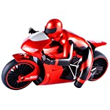 Homyl 1:16 Scale Children's Toy Simulated Model 2.4G High Speed Drift Remote Control Motorcycle Toy Gift for Boys Red