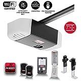 Genie QuietLift Connect – WiFi Smart Garage Door Opener with Added Wireless Keypad, ¾ HPc Smart Belt Drive – Compatible with Alexa and Google Assistant, Model 3053-TKV