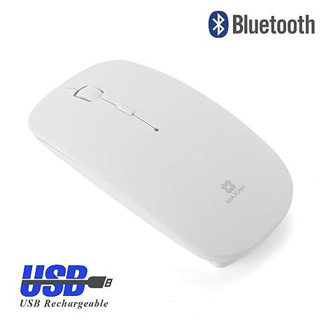 MAXAH Ratón Bluetooth 3.0, Ratón Óptico Inalámbrico,Ultra-Delgado, Para W98 /