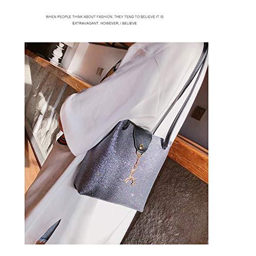 avec bandoulière cerf mignon Refurbishhouse de Mini à paillettes sac sac Sac de à voyage Argent Argent YwwF4tgn1